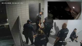 WATCH: Surveillance video aligned with body cam video & sound of Mesa police hitting, punching man