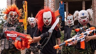 GUGU Nerf War : Swat patrol CID Dragon Nerf Guns Fight Criminal Group XICMAN Danger 2