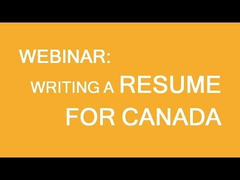 Resume writing for employment in Canada
