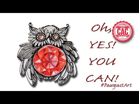 Tutorial How to Make Doodle Gems Ep 19 Faceted Ruby Owl How to Draw #Pawgustart