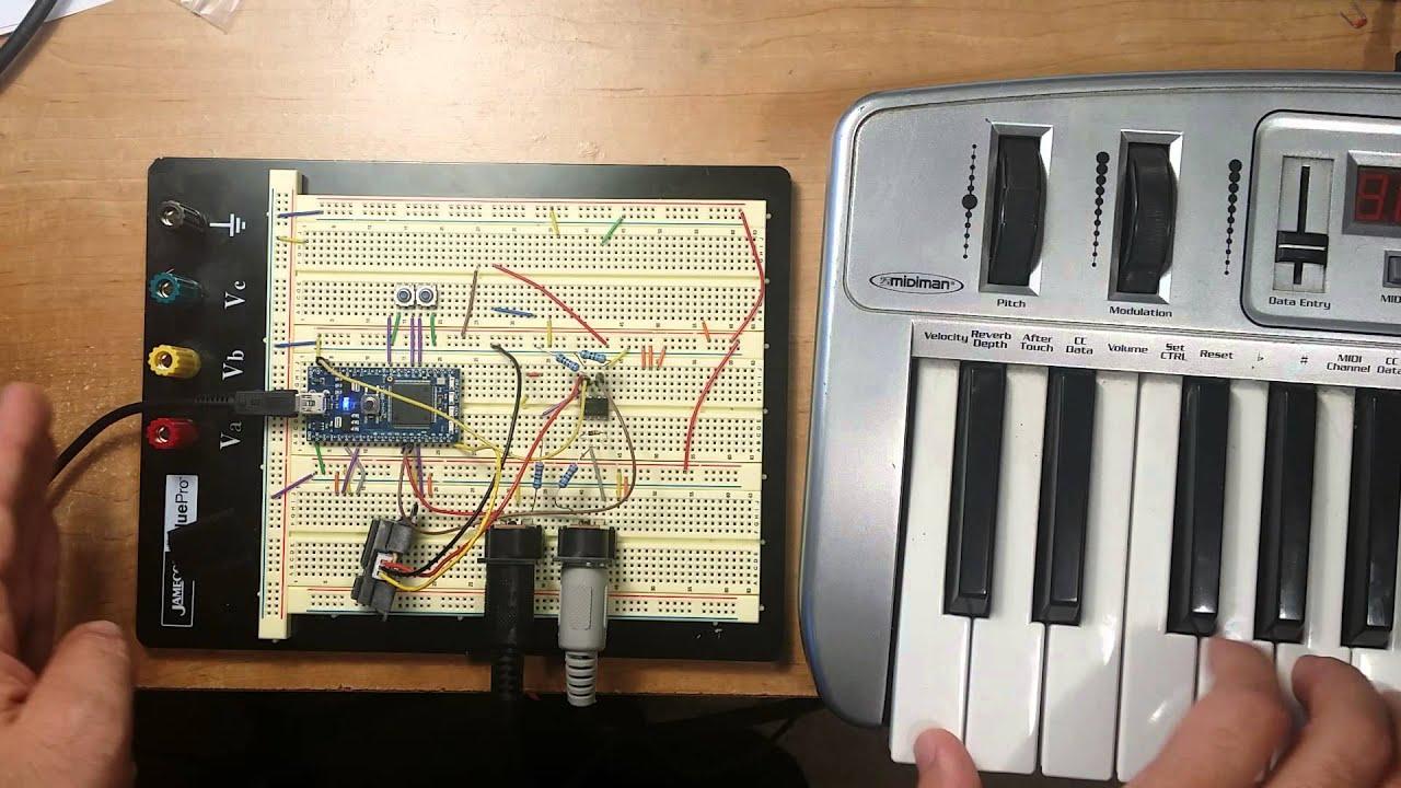 Usb To Midi Wiring Diagram. Midi Keyboard Wiring Diagram, Daisy ...
