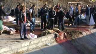 Kurban Kesimi 2012  KKB 09  Sheep slaughter Girl (Selin için çekilmiştir)