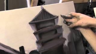 Китай маслом, уроки живописи