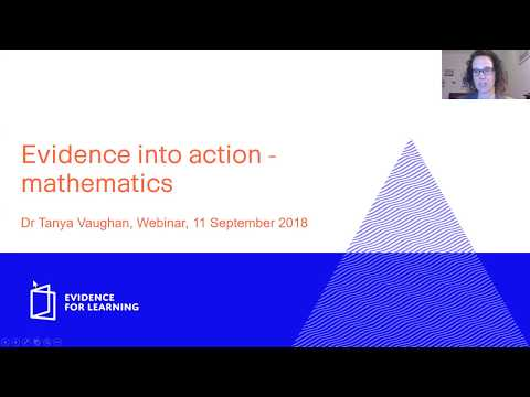 Evidence into action - mathematics