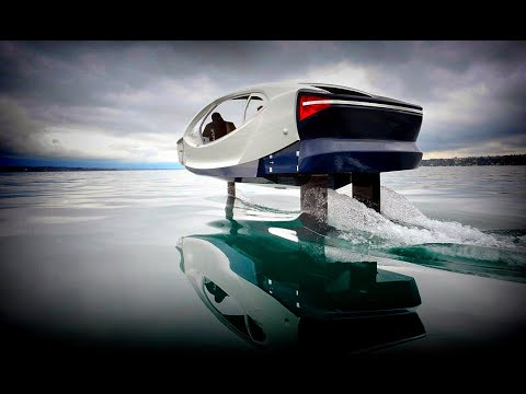 Meet SeaBubbles: Amazing Electric Hydrofoil Self-Stabilizes and Glides over the Water: River Taxi