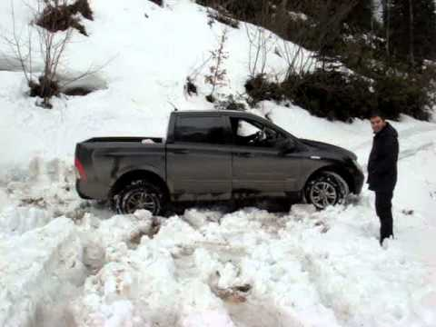 Ssangyong actyon sports 4x4 snow off road youtube