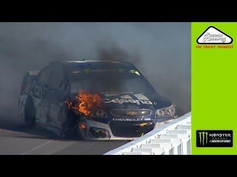 Johnson, McMurray experience fiery wrecks at Pocono