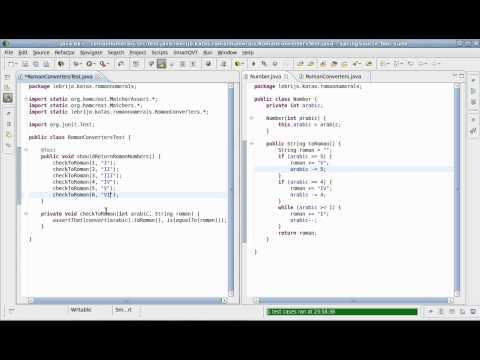 Roman Numerals Java Kata (Fluent interface version)