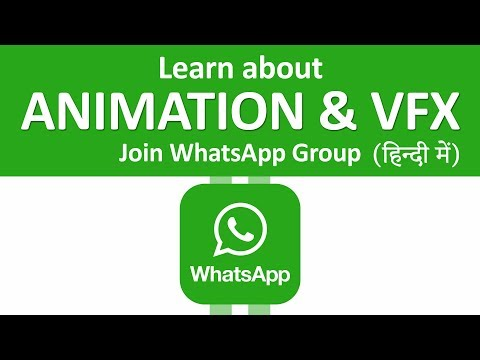 Learn About Animation & Vfx using whatsaap group