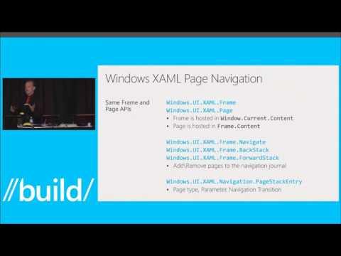Build 2014 Navigation Model for Windows XAML Applications