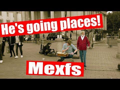 Amazing Guitarist Mexfs busking at Trafalgar Square