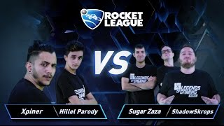 פרק 21: Xpiner & Hillel Parody vs Sugar Zaza & ShadowSkrops - Rocket League