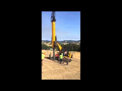 GEAX DTC80 Foundation Drill Rig Drilling Methane Energy Landfill Gas wells