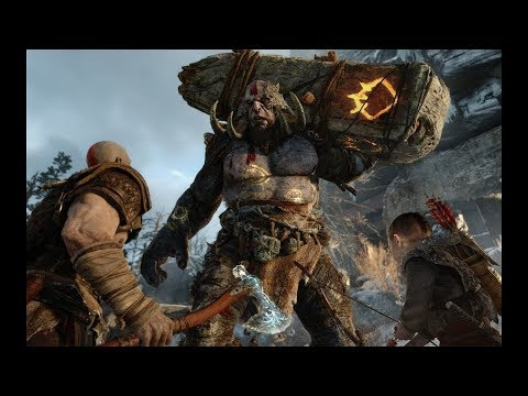 God Ω War [PS4]  *Playing at Max Difficulty* Troll Giant Brutal Kill - 1080p[60fps]
