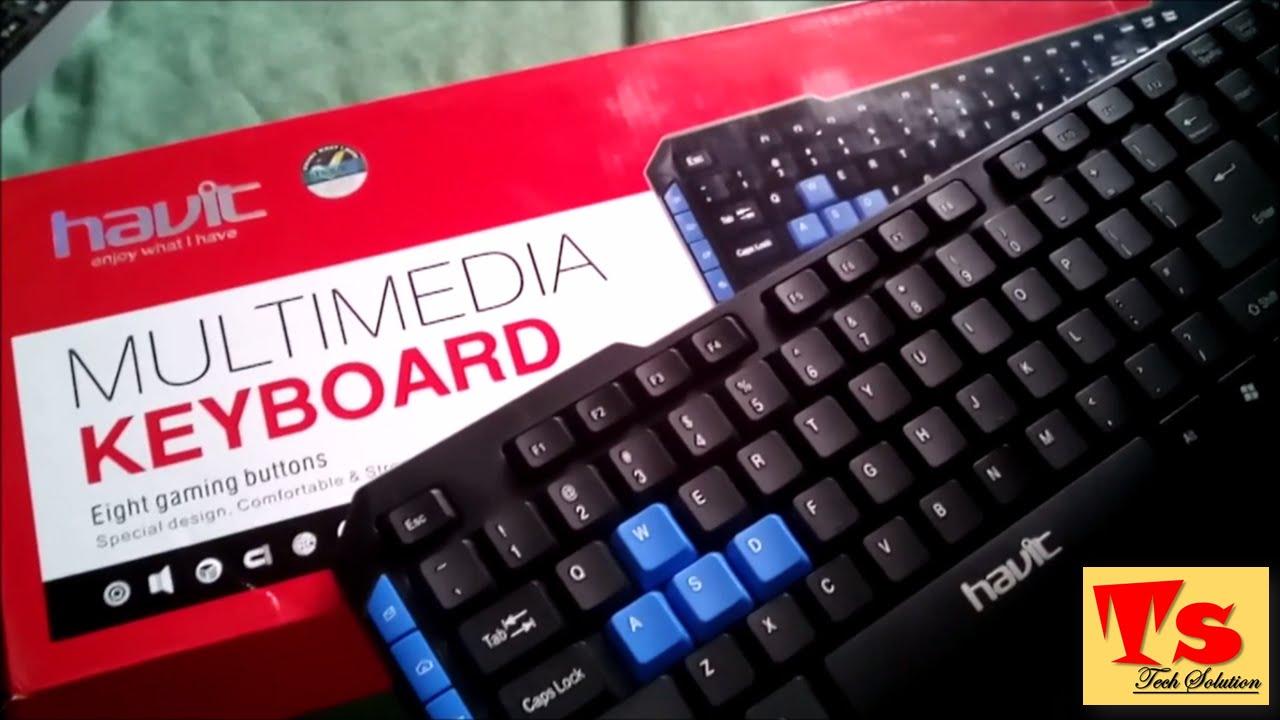 54a30345e4e Havit Multimedia Usb Keyboard Unboxing - YouTube