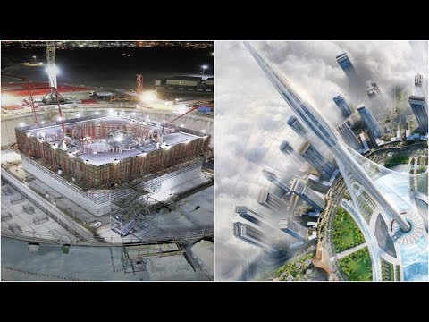 Dubai Creek Tower - 1300m+ Tall Building! - World's Tallest Building - 2018 Construction Update