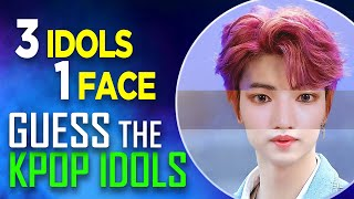 [KPOP GAME] CAN YOU GUESS THE KPOP IDOLS 3 IDOLS IN 1 FACE #1