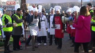 Westminster Pancake Day Race 2015: Journalists Vs Politicians