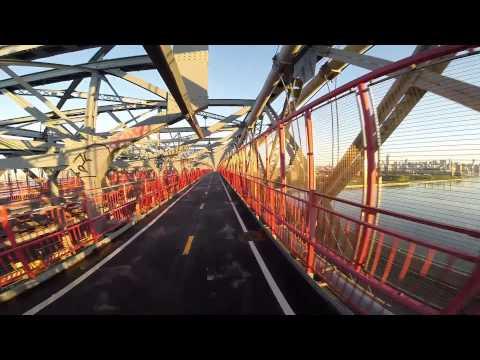 New York Williamsburg Bridge Morning