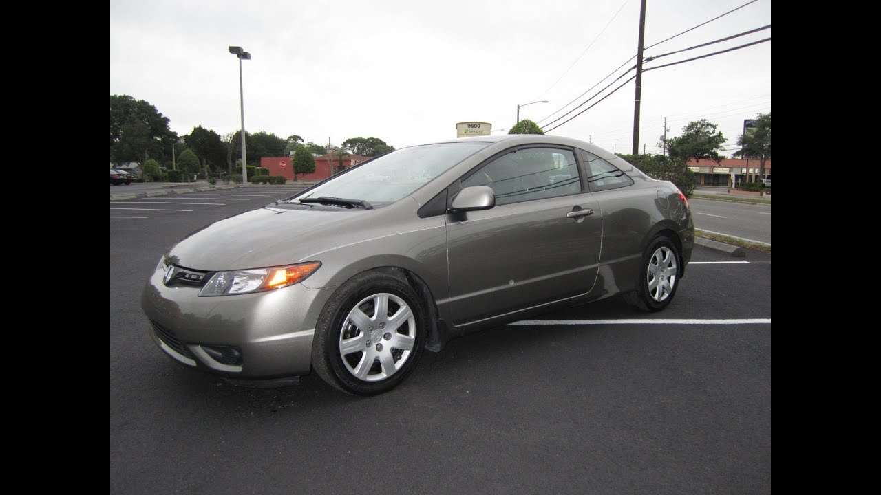 sold 2008 honda civic lx coupe 5 speed manual meticulous motors inc florida for sale youtube. Black Bedroom Furniture Sets. Home Design Ideas