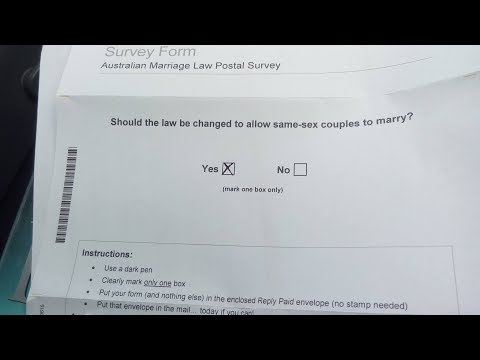 "My Personal Thoughts on the Unfortunate Australian Marriage Equality Postal ""Vote"""
