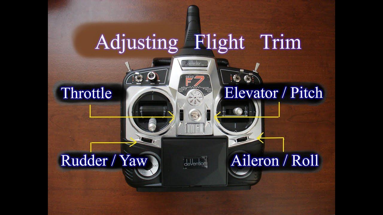 Adjusting Transmitter Flight Trim For Multirotors