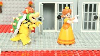 マリオがデイジー姫を助ける?ルイージは、クッパにフルボッコされて瀕死状態!【レゴマリオ】コマ撮り