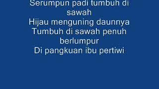 Judul lagu serumpun padi dan liriknya .