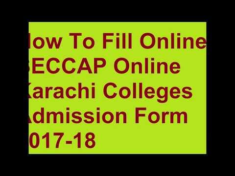 How to Fill  Online Form SECCAP-CAP 2017-18 Karachi Colleges Admissions