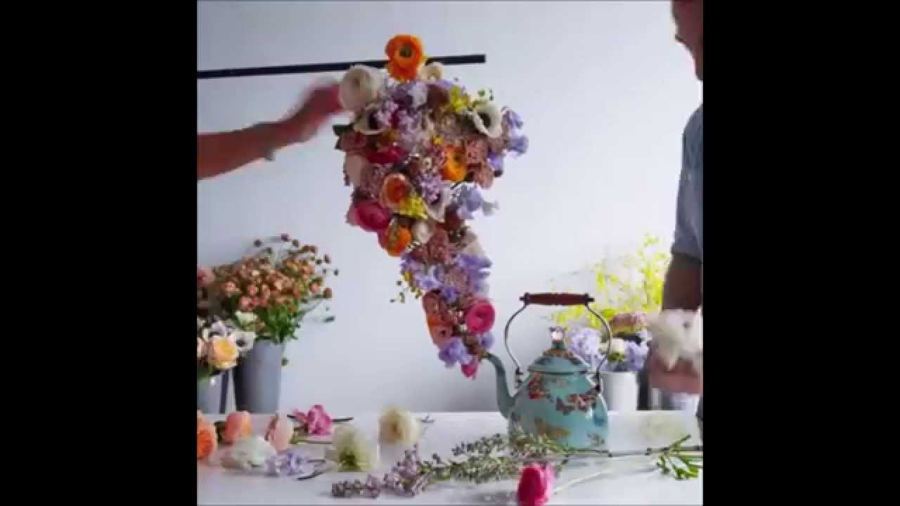 Flowers teapot kitchen decoration youtube for Kitchen decoration with flowers