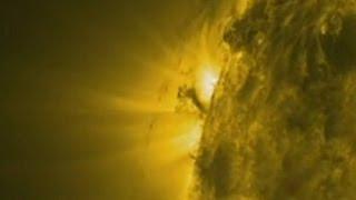 Solar Tornado filmed by Nasa's SDO satellite