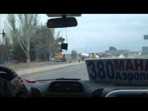 380 Marshrutka from Manas Airport to Bishkek Kyrgyzstan March 2016