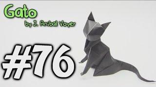 Origami Gato cat - Yakomoga Origami tutorial