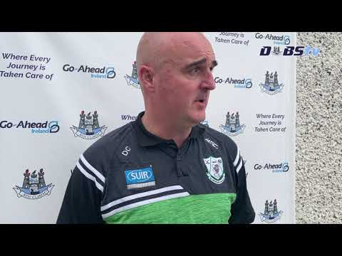 Lucan Sarsfields manager Dave Cullen speaks to DubsTV following win over Round Towers Lusk