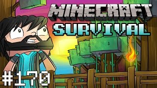 Minecraft : Survival - Part 170 - Tearing Down The Walls!