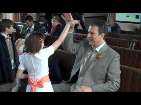 John Corbett & Joey King Handshake Happiness