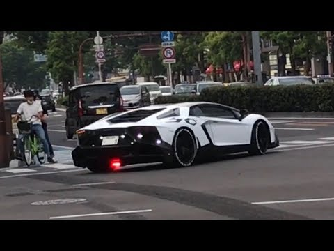 超爆音‼クライスジーク 加速サウンド ランボルギーニ アヴェンタドール in岡山 Lamborghini Aventador LP700-4 Kreissieg Exhaust Sound