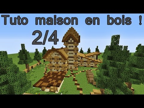 Minecraft tuto maison enti rement en bois 2 4 youtube - Minecraft maison en bois ...