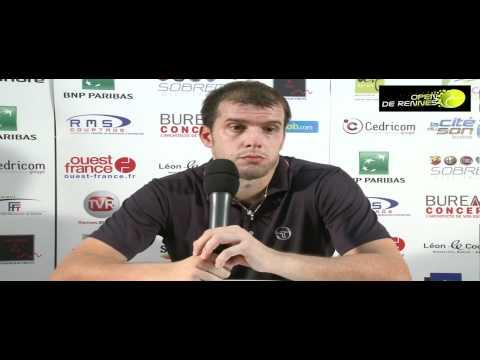 Gilles Muller interview after 1st round victory against Bubka (Open de Rennes 2011)