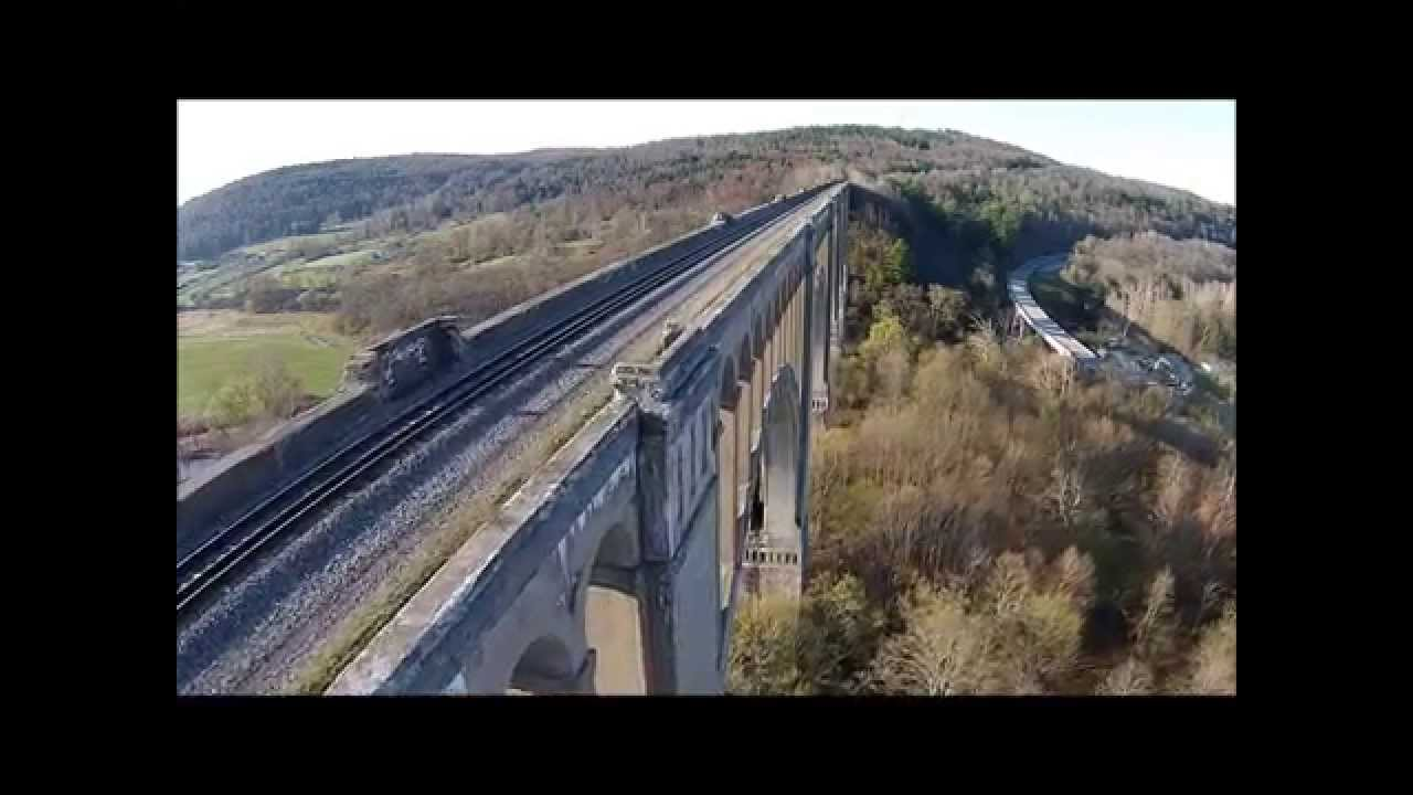 Dji Phantom 2 >> Nicholson bridge flyover Tunkhannock Viaduct Aerial Video DJI Phantom vision 2+ - YouTube