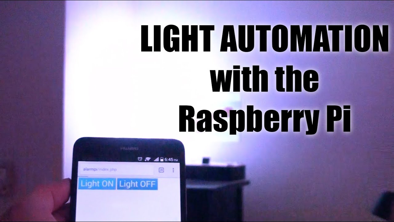 Raspberry Pi How To Turn On A Light With Your Phone Youtube 230v Automatic Night Lamp
