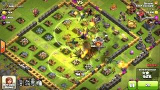 [Dyson Lin] Clash of Clans Level 81 - Attack with 8 Dragons