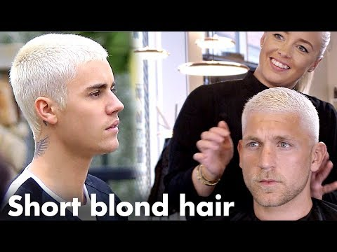 Justin Bieber Short Blond hair - Platinum Skinfade hairstyle for men
