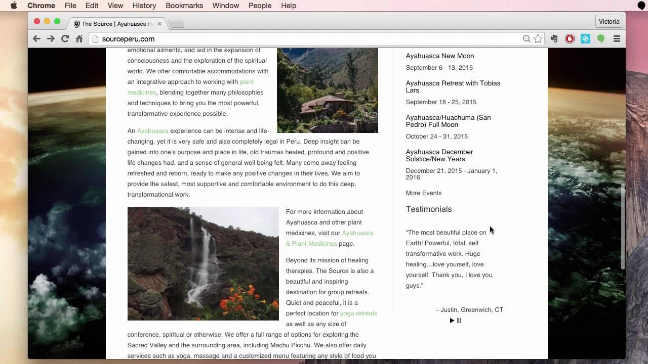 The Source - Ayahuasca Retreat Center Website