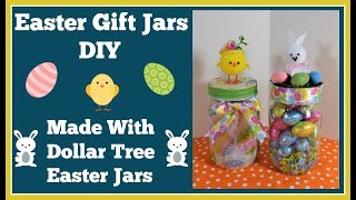 Easter Gift Jars DIY 🐰 Made With Dollar Tree Easter Jars