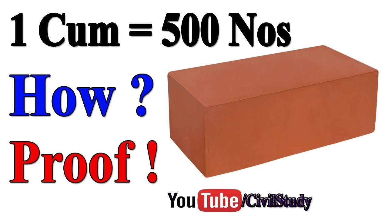 How many bricks in 1 m3 Standard brick size 41