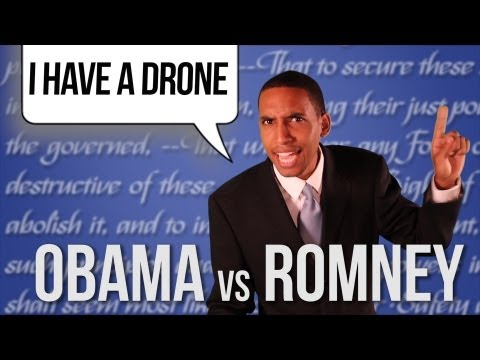 I HAVE A DRONE - Barack Obama vs Mitt Romney [RAP NEWS 16]