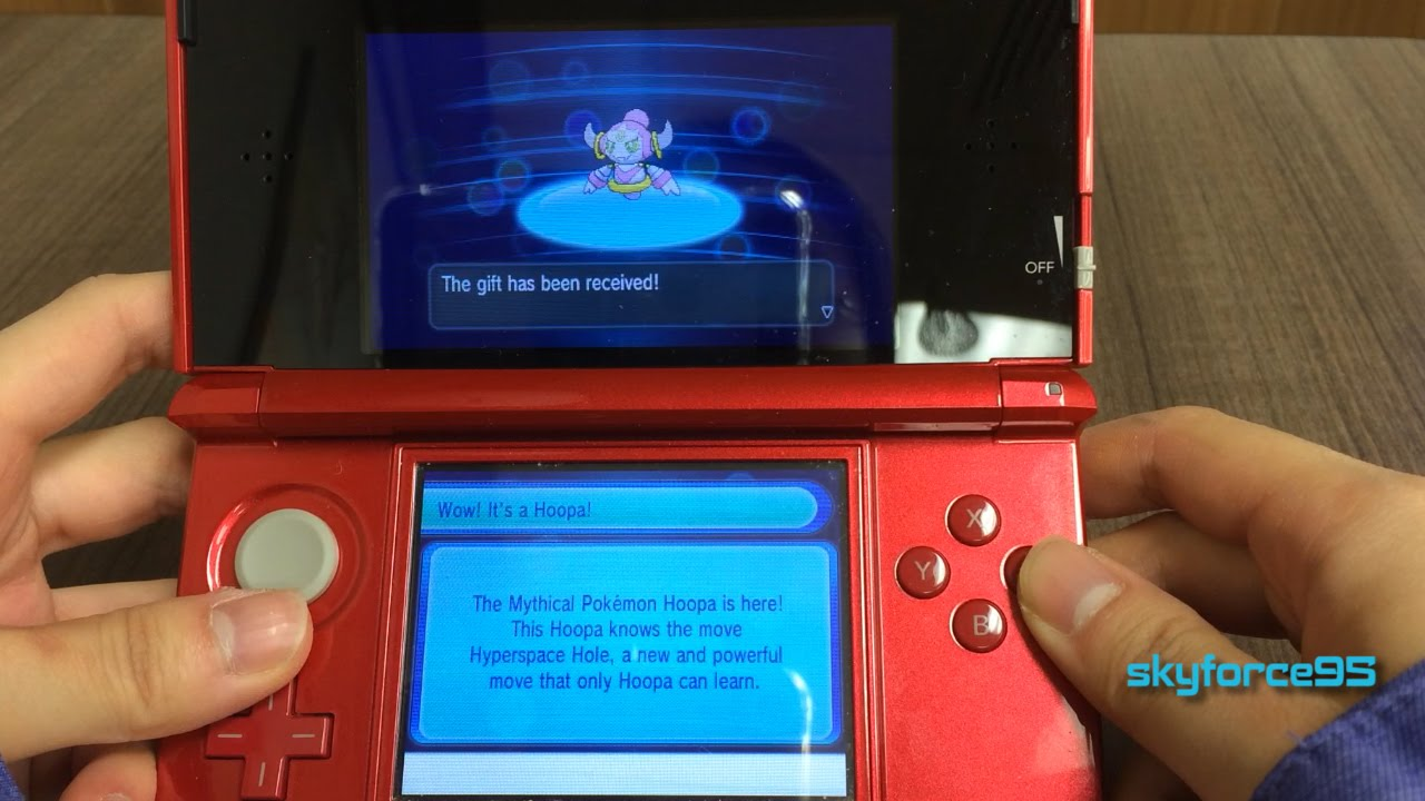 Mystery Gift: Hoopa (Pokemon X/Y/OR/AS) - YouTube