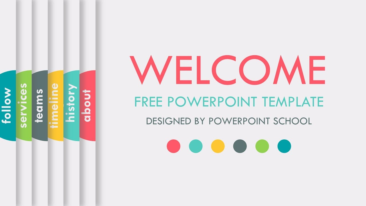 free animated powerpoint slide template youtube