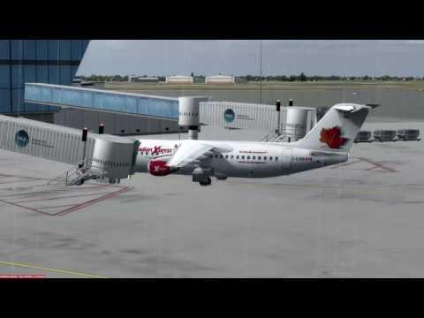 BAe Avro RJ100 Winnipeg (CYWG) to Ottawa (CYOW) P3D v3.4